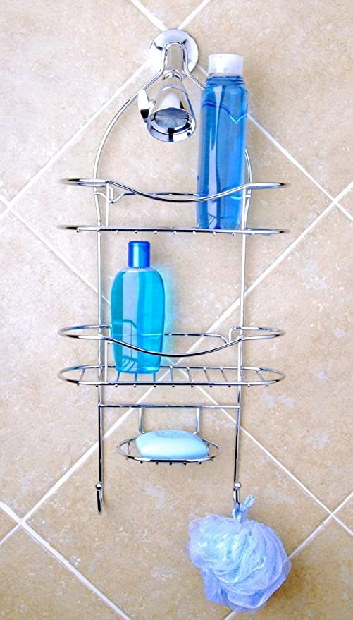 Totally Bath Vertical Fit Shower Caddy, Chrome: Amazon.co.uk ...