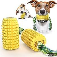 FONGKE Masticable para perros de maíz, juguetes indestructibles con cuerda para perros medianos y grandes, limpieza…