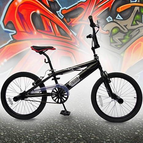 Jago - Bicicleta BMX Negra con Ruedas de 20 Pulgadas: Amazon.es: Deportes y aire libre