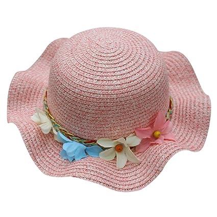 Y56 Verano Baby Gorro Sombrero Flores Sombrero Paja Sombrero Breathable  Niños Sombrero Sombreros Niño Niña Chica 7d1d9c5df51