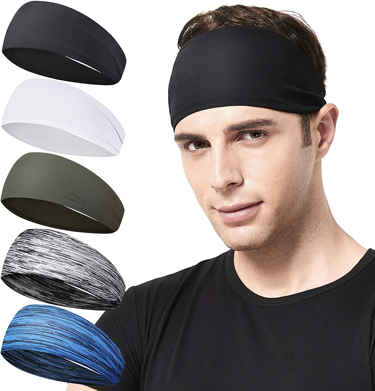Yoga Sweatband Basketball Headband Running Exercise Stretchy Hairband Unisex