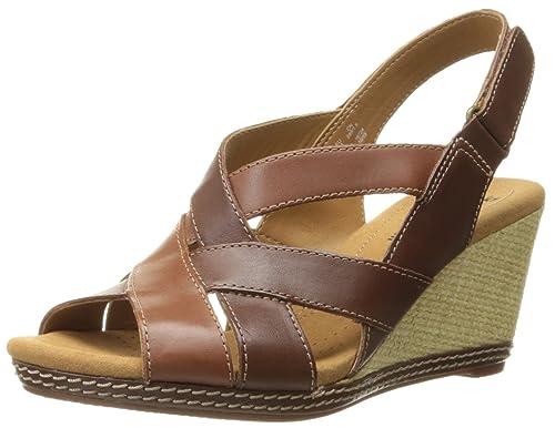06c92496638e Clarks Women s Helio Coral Wedge Sandal