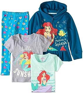 Disney Princess Ariel 4 PC Hoodie Shirt Legging Set Size 5