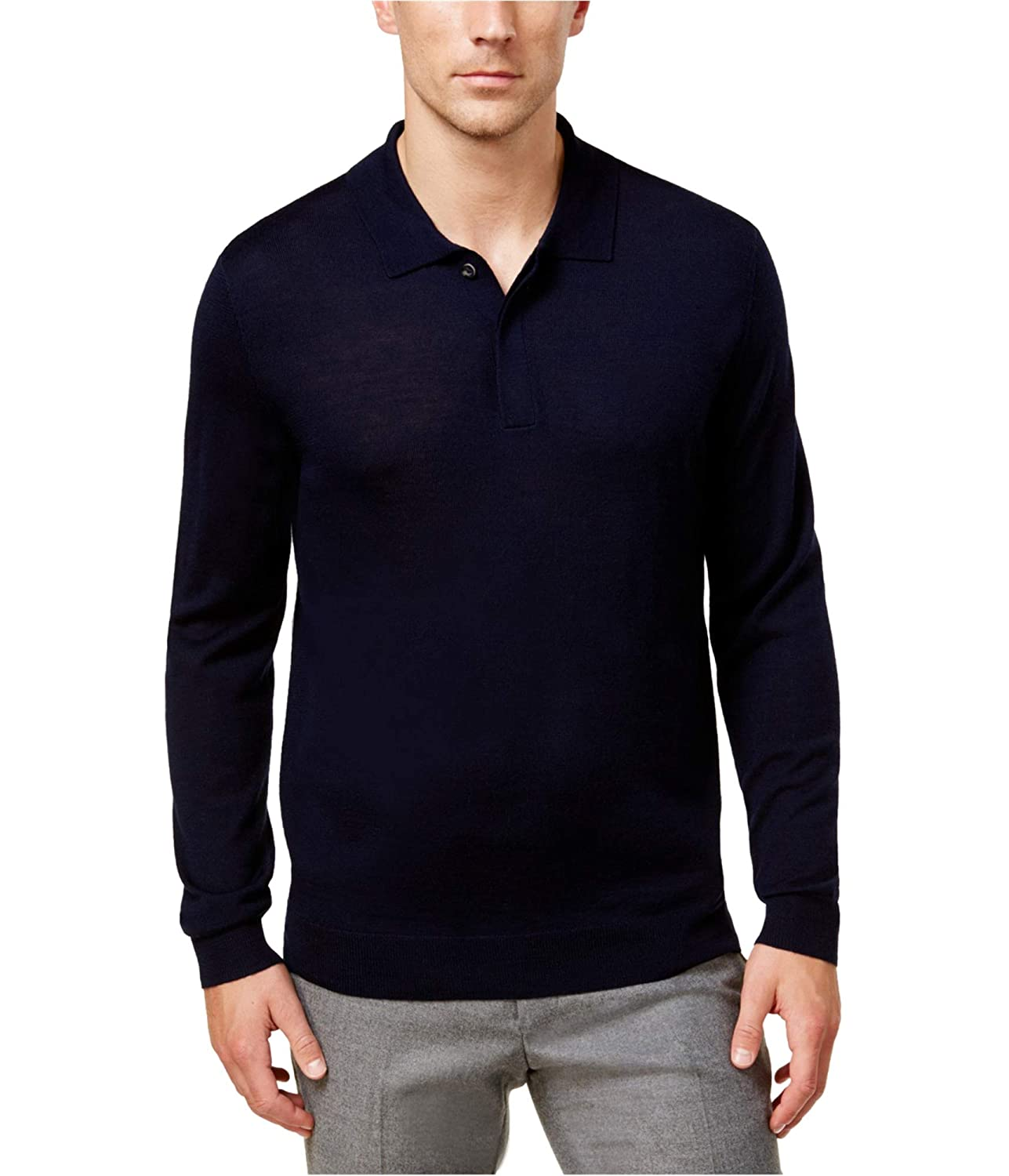 Club Room Mens Ls Knit Polo Sweater 29347CRMER