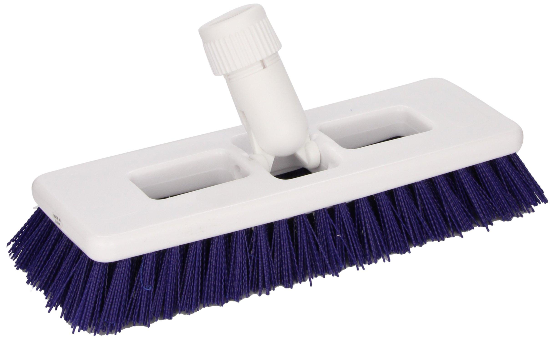Impact 37000 Plastic Heavy Duty Swivel Scrub Brush, 15/16'' Trim, 9'' Width, Blue/White (Case of 6)