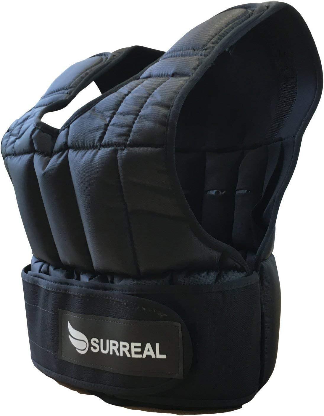 zum Gewichtsverlust//Fitnesstraining Surreal Gewichtsweste verstellbar erh/ältliches Gewicht:25 kg