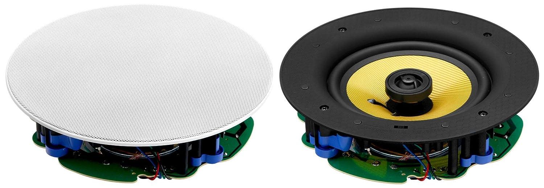 set de 2 haut-parleurs int/égr/és /à 2 voies Pronomic CLS-660 WH high end tiss/é 240 Watt