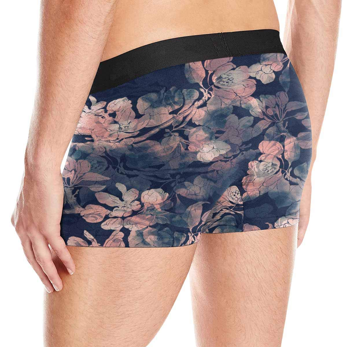 XS-3XL INTERESTPRINT Mens Boxer Briefs Underpants Imprints Sakura Blossoms