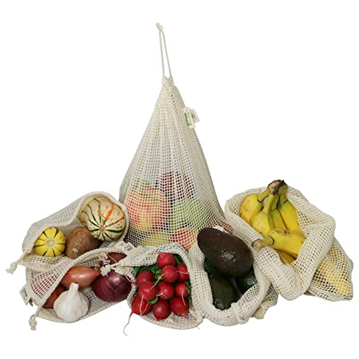 Simple Ecology reutilizable Produce bolsas de compras y ...