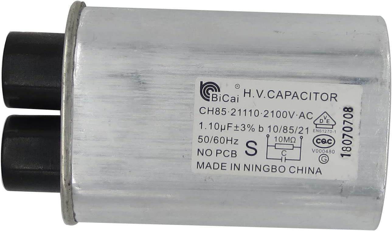 CQC&VDE Certification Universal Household Microwave High Voltage Capacitor ch85 2100V AC H.V.CAPACITOR 10/85/21 50/60Hz NO PCB,VDE EN61270-1 (21085 0.85uf)