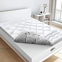 BedStory Topper Colchon Fibra 90x190 CM Sobrecolchón Fibra Anti-ácaros y Transpirable Protectores de Colchón…