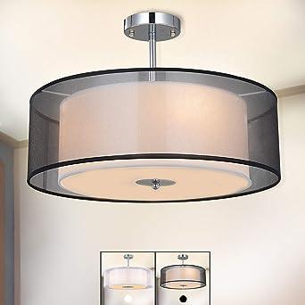 De ModerneSpakrsor Diamètre3 Lampe Avec Abat Lustre Plafonnier Suspensions E27 Jour Textile50 X Cm TF3lK1cJ