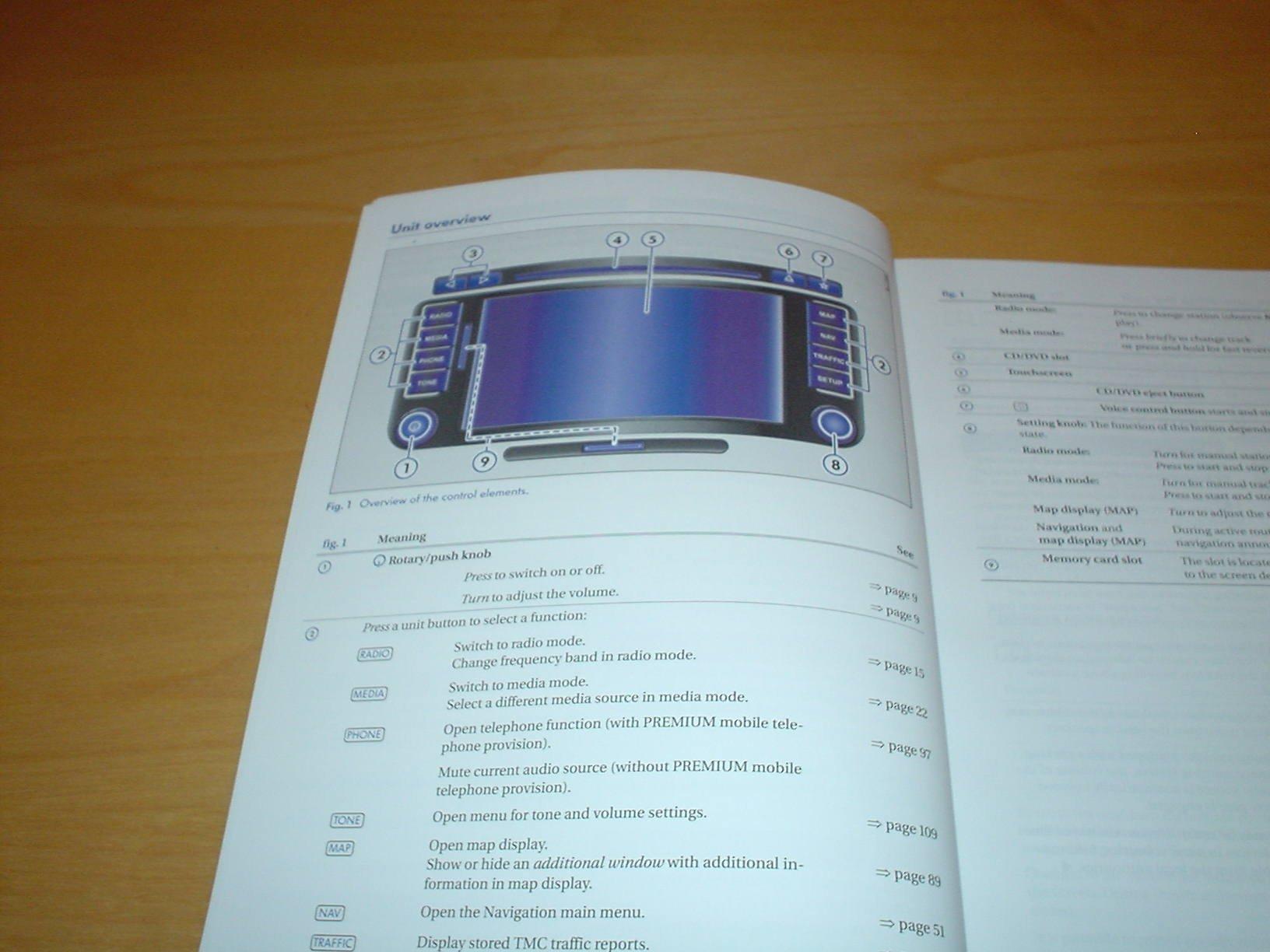 Volkswagen rns 510 navigation system owners manual handbook rns510.
