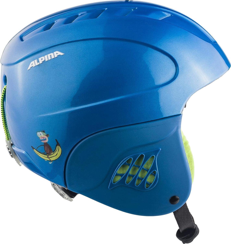 unisex colore: blu//monkey 54-58 cm Alpina Casco da sci e snowboard per ragazzi