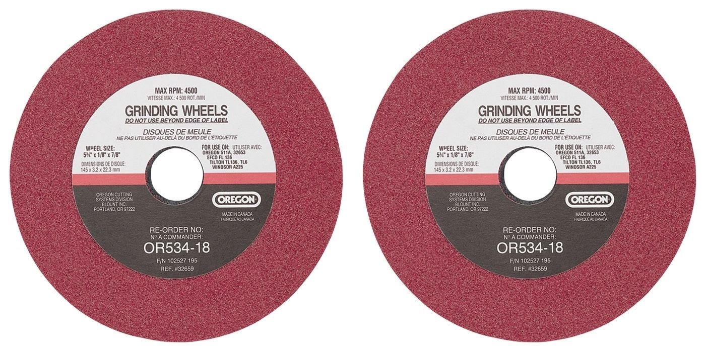 2 Oregon OR534-18 1/8 x 5 3/4 Grinding Wheel for 511A - Chain Sharpener