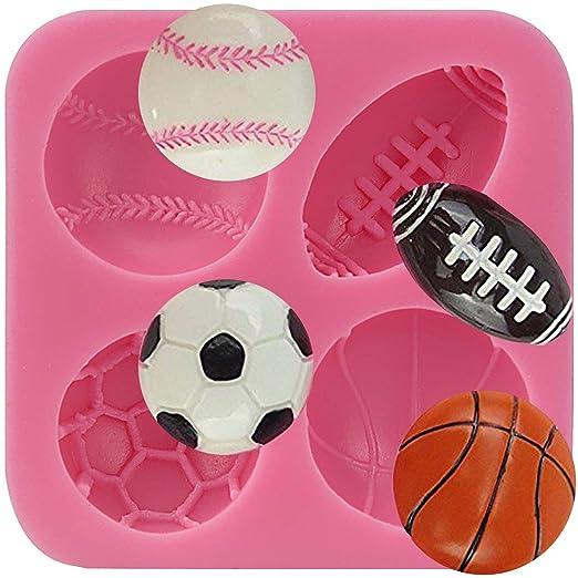 AnyanaAZB fútbol Baloncesto Tenis de silicona para tartas Fondant ...