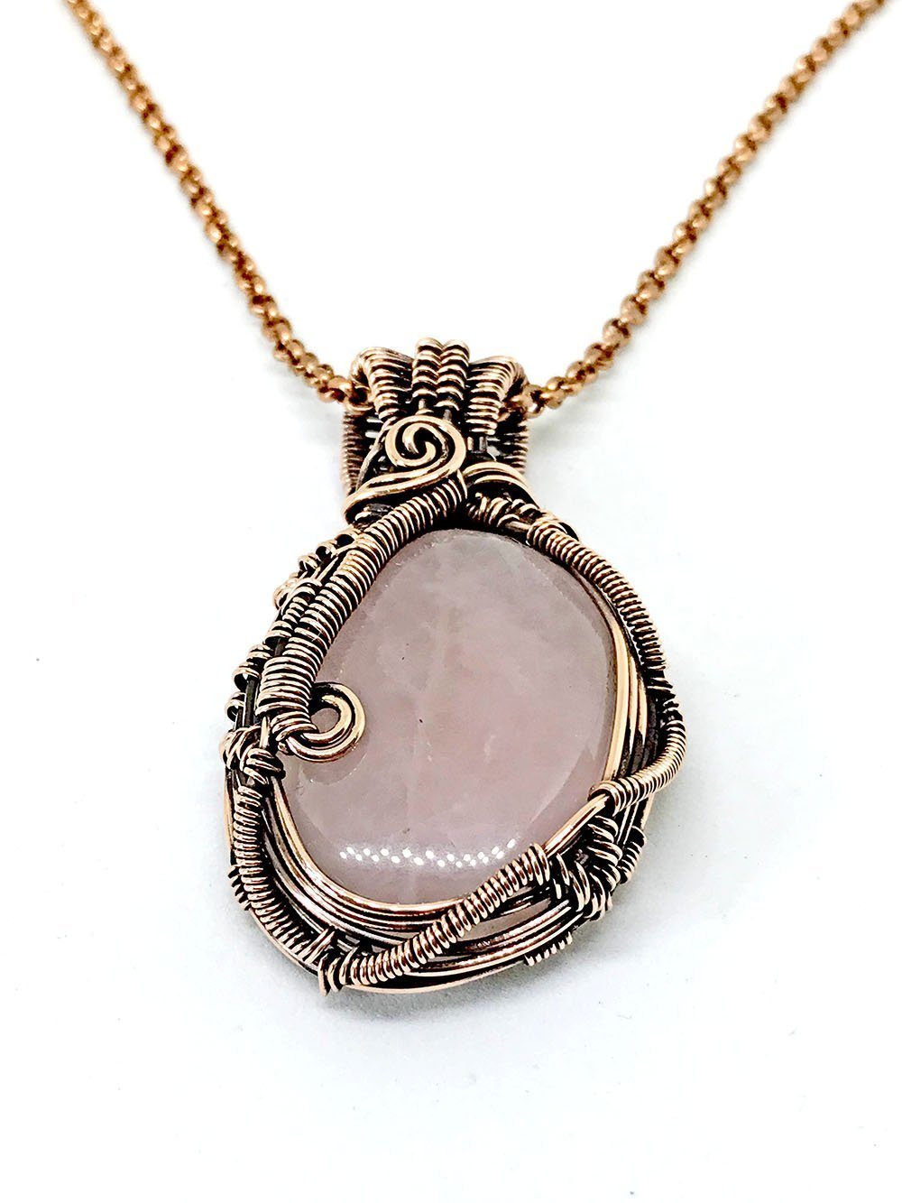 wire wrapped jewelry Rose quartz crystal wire wrap necklace wrapped rose quartz crystal rose quartz crystal wire wrap pendant
