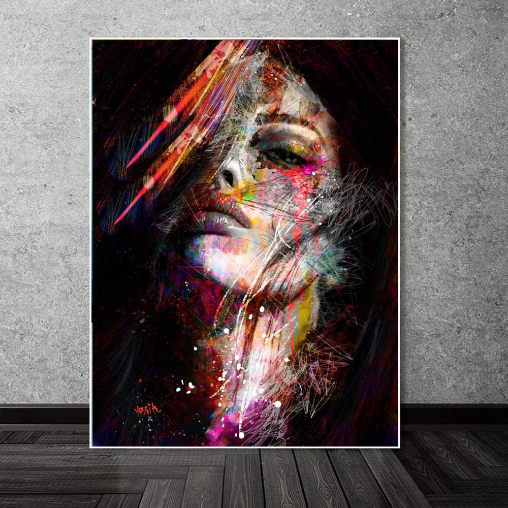 UUAPEERJ Peinture num/érique,Peinture/par/num/éro/Adulte Abstrait Graffiti Art Peintures Murales Pop Art Filles Modernes Peintures /À lhuile 40x50cm sans Cadre