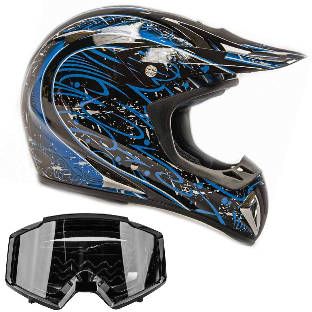 Amazon.es: Adulto Offroad Casco y Gafas de Gear Combo Dot Motocross ...