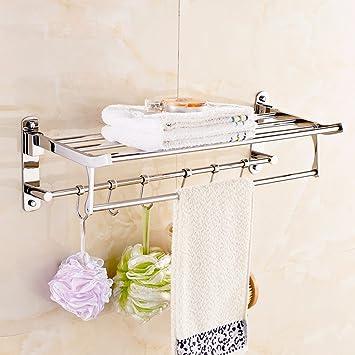ZXC Bathroom racks Los baños están construidos en Acero Inoxidable 304 Estante toallero colapso Toallas Toallas de baño para Colgar en la Pared de Hardware ...
