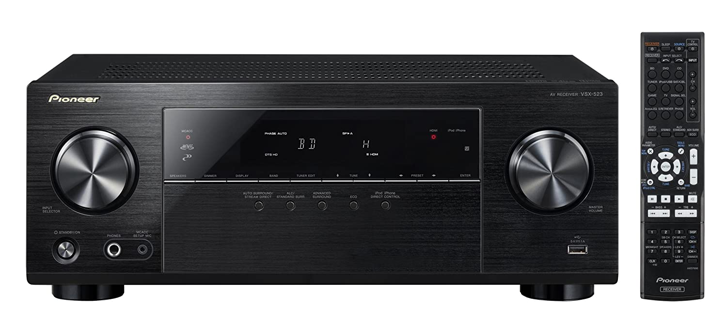 Amazon.com: Pioneer VSX-523 5.1-Channel A/V Receiver (Black): Home Audio &  Theater
