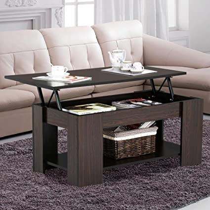 Beau Yaheetech Lift Up Top Coffee Table With Under Storage Shelf Modern Living  Room Furniture (Espresso