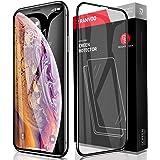 RANVOO iPhone XS/iPhone X ソフトエッジ 強化ガラスフィルム 100%全面保護フィルム日本製素材旭硝子製 5D全面保護 業界初の設計 外側PETで割れにくい 耐衝撃性能2倍 最強硬度9H 透過率99.9%