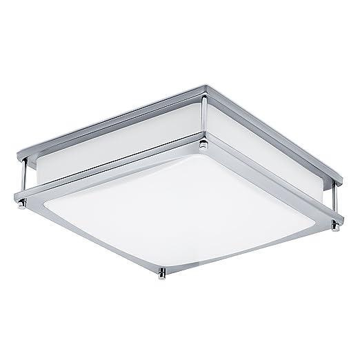 Green Beam LED Light Fixture, Flush Mount Light Fixture, Brushed Nickel  Light Fixture, Kitchen Light Fixtures, Square Bathroom Ceiling Light  Fixture, ...