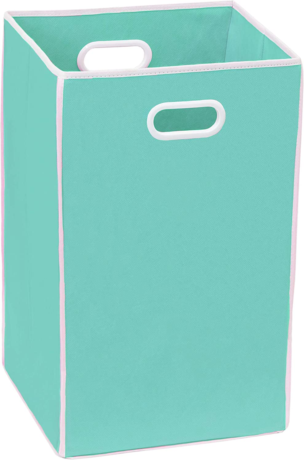 Simple Houseware Foldable Closet Laundry Hamper Basket, Turquoise