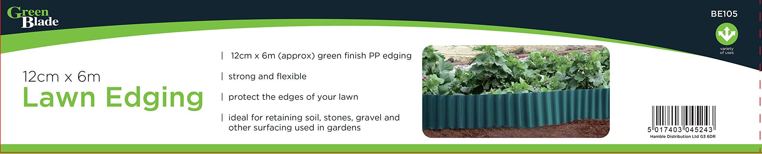 PLASTIC EDGING GARDEN LAWN GRASS DECORATIVE FLEXIBLE PRETTY 12CM X 6M