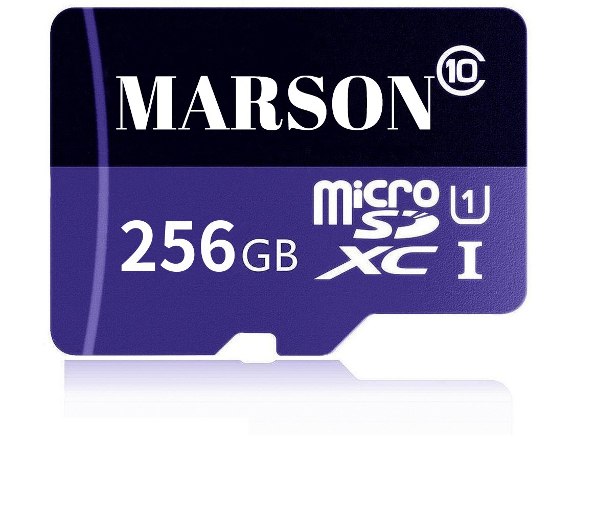 MARSON 256GB Micro SD Card High Speed Class 10 Micro SD SDXC Memory Card With Adapter