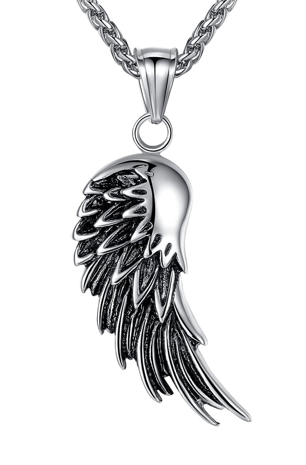 double in pendant with white pin black diamonds and wings winged gold created