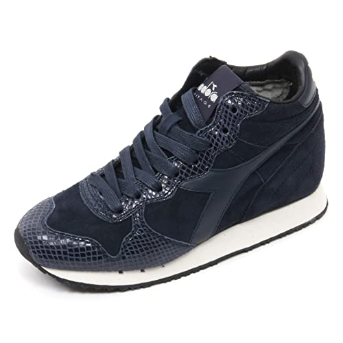 Diadora B7522 Sneaker Donna Heritage Trident Scarpa Blu Shoe Woman  35.5    Amazon.it  Scarpe e borse d88014c6a9d