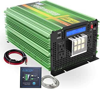 EDECOA Pure Sine Wave Power Inverter 3500W DC 12V to AC 120V with LCD Display and Remote Controller 4 AC Outlets and 1 AC Terminal Block