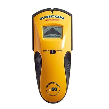 Zircon StudSensor e50 Electronic Wall Scanner  / Edge Finding Stud Finder / Live AC WireWarning Detection - FFP