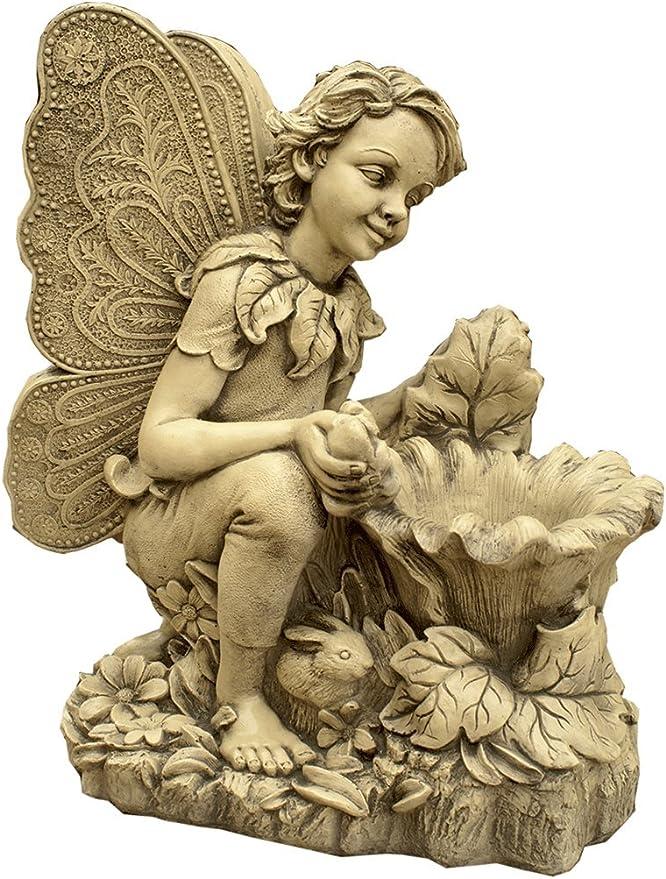 CATART Figura Decorativa Elfo en hormigón-Piedra para el jardín ...