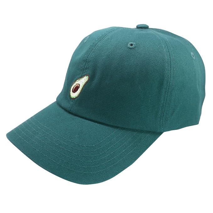 Avocado Embroidery Hat Adjustable Fruit Baseball Cap (Green) at ... 6054690ae90