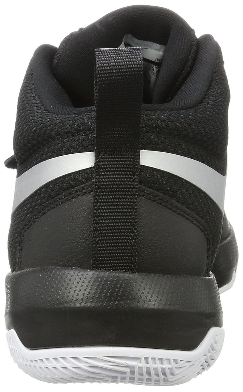 Black//Metallic Silver//White 001 Zapatos de Baloncesto para Ni/ños 36.5 EU GS Negro Nike Team Hustle D 8