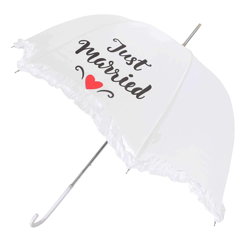 X-brella Scallop Frilled Hochzeit Regenschirm UTUM310_1