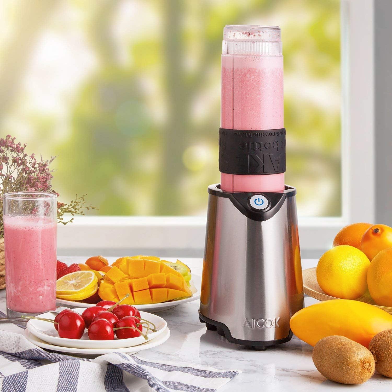 environ 566.98 g bouteilles smoothie jus Shakes Personal Blender simple 300 W servir de mélangeur deux 20 oz