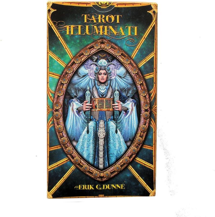 Green Cross Toad Illuminati Tarot -The Light Within por Erik C Dunne, Baraja de Tarot de 78 Cartas con Instrucciones Multilingues: Amazon.es: Juguetes y juegos