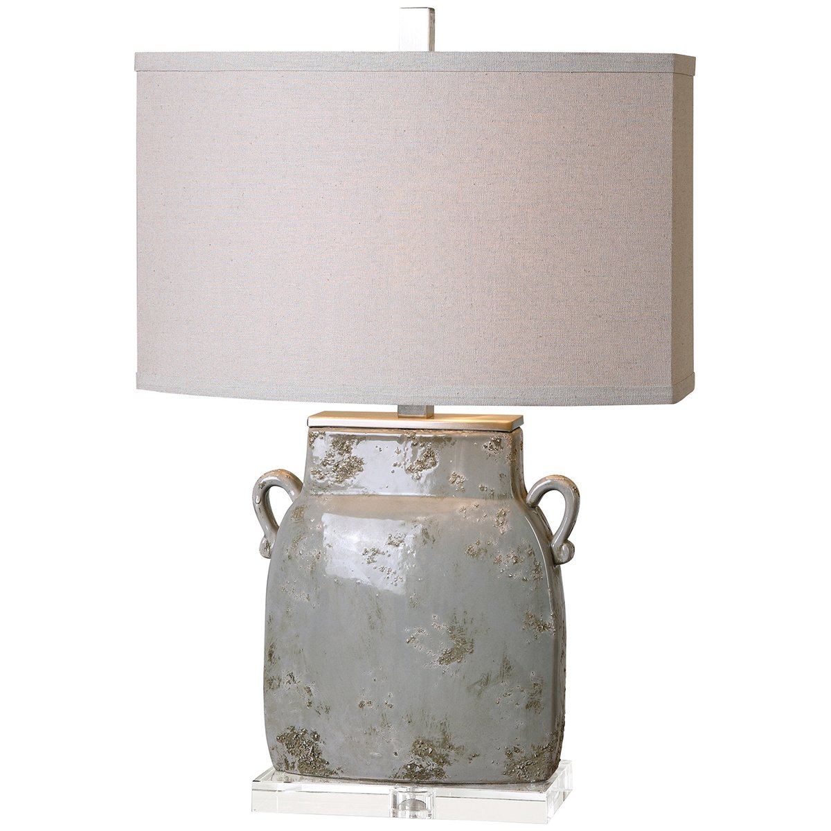 Uttermost Melizzano Lamp in Grey and Ivory