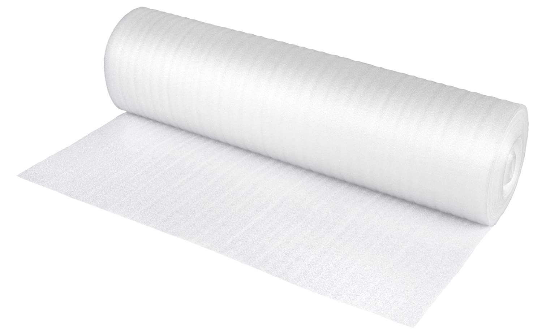 NIPS 118806209 Foam Film Pack PE Foam Roll 1 m x 25 m Thickness 2 mm, White NIPS Ordnungssysteme GmbH