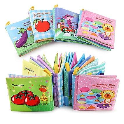 Livres Pour Bebes En Tissu Jouets Pour Enfants Jouets Educatifs Pour Enfants A Lot De 4