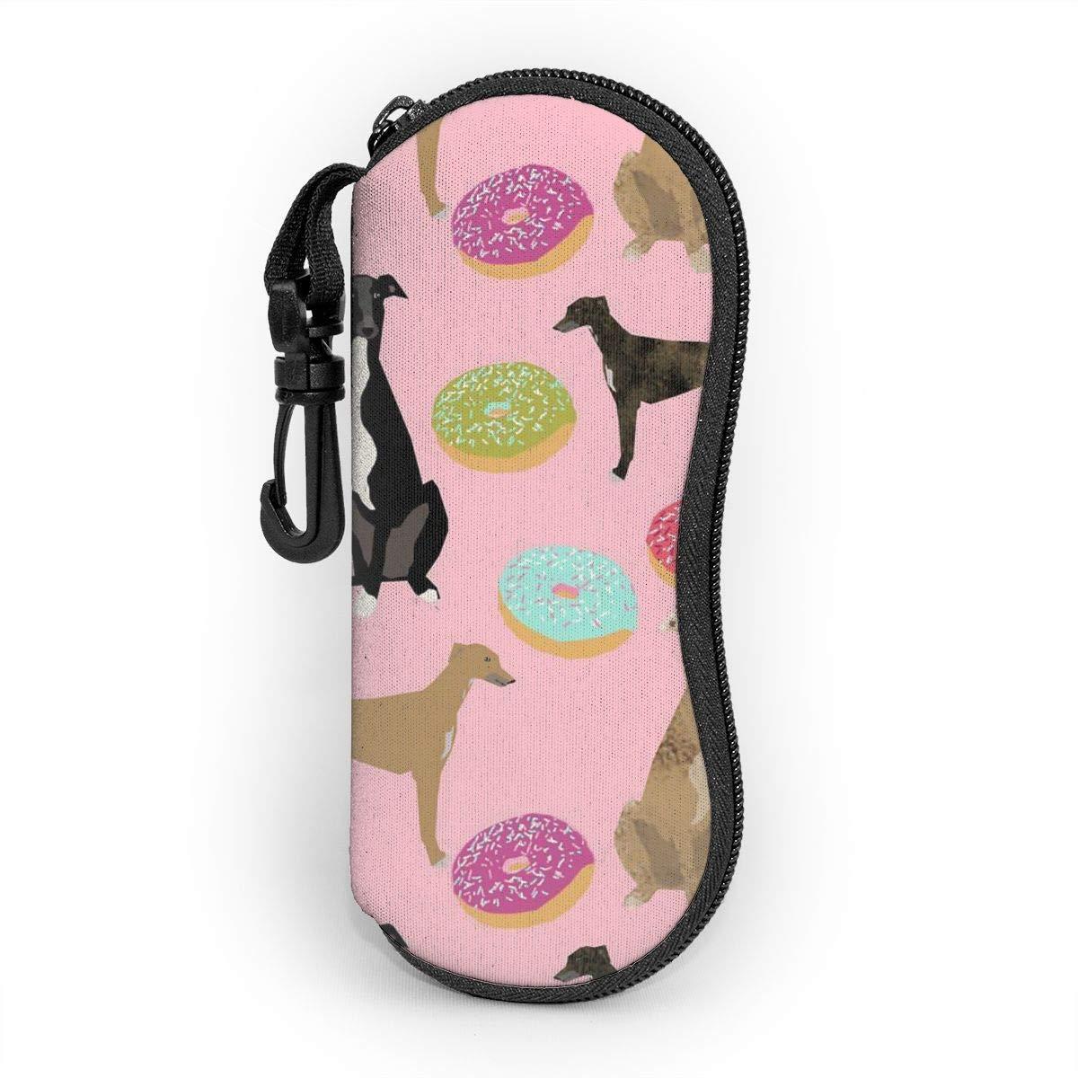 N//A Borsa porta occhiali con cerniera in levriero rosa ultraleggero portatile con cerniera