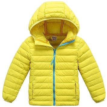 ZOEREA Chaqueta de pluma para niño abrigos niña chaquetas niño invierno aligerado packable: Amazon.es: Deportes y aire libre