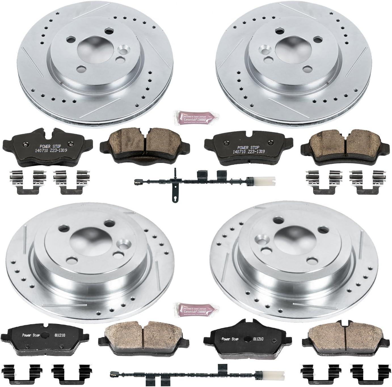 Power Stop K6739 Front Brake Kit with Drilled//Slotted Brake Rotors and Z23 Evolution Ceramic Brake Pads