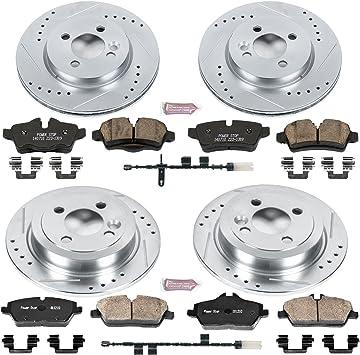 Fit 2011 Mini Cooper Front HartBrakes Drill Slot Brake Rotors+Ceramic Brake Pads