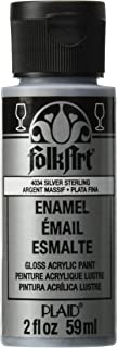 product image for FolkArt Enamel Glitter and Metallic Paint in Assorted Colors (2 oz), 4034, Metallic Silver Sterling