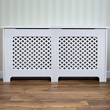 Incroyable Home Discount Oxford Radiator Cover Traditional White Painted MDF Cabinet,  Medium